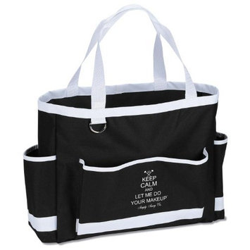 Simply Savvy Co Makeup Artist Heat Resistant Keep Calm and Let Me Do Your Makeup Carry All Tote One Size Black by Simply Savvy Co