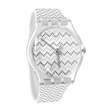 Swatch SUOK118 Wavey Dots White Grey Silicone Rubber Watch