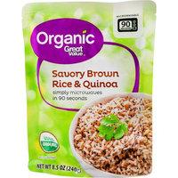 Wal-mart Store, Inc. Great Value Organic Quinoa & Brown Rice with Garlic, 8.5 oz