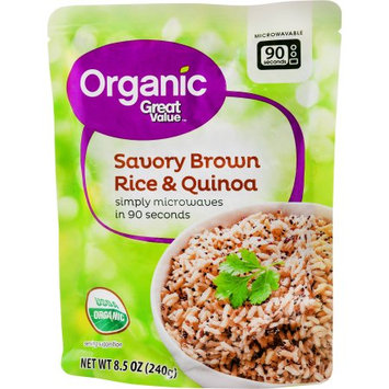 Wal-mart Store, Inc. Great Value Organic Quinoa & Brown Rice with Garlic, 8.5 oz
