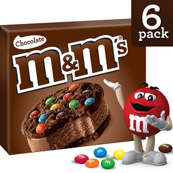 M&M's, Cookie Sandwiches With Chocolate Ice Cream, 6 Ct