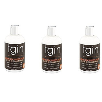 PACK OF 3] TGIN GREEN TEA SUPER MOIST LEAVE-IN CONDITIONER 13OZ : Beauty