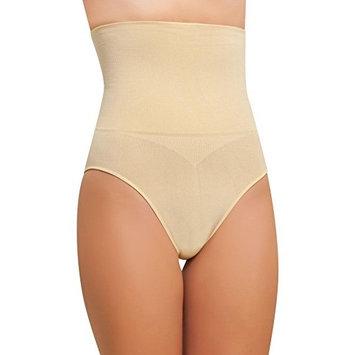 NBB Women's Seamless Hi-Waist Tummy Control Body Shaper Slimming Shapewear Pants Beige Large
