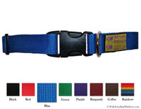Walk Your Dog With Love Colorful Quality Dog Collars, Original Edition, Sizes For Any Dog, Sky Blue