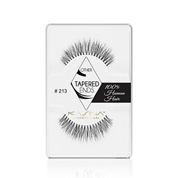 KASINA Professional False Eyelashes #213 Tapered Ends Lashes in 100% Human Hair, Version of Ardell Red Cherry, Pack of 6 [Professional False Eyelashes #213 Tapered Ends Lashes in 100% Human Hair]