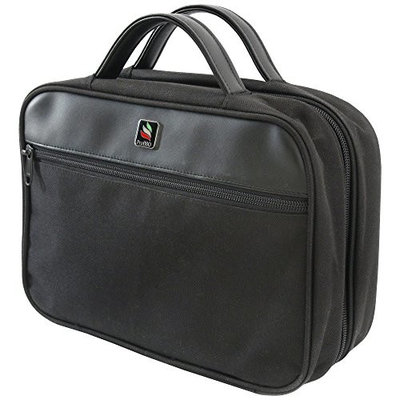 Unisex Toiletry Bag – Black Toiletries Tote for Men and Women, Suitable as Makeup Organizer, Shaving Travel Bag, Dopp Kit, and Gym Cosmetics Bag – Waterproof, Foldable, and Lightweight