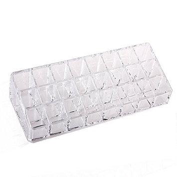 VALYRIA Clear Acrylic Trapezoid 24 Lattices Lipsticks Cosmetic Organizer/display/holder
