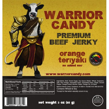 Warrior Candy Premium Beef Jerky Orange Teriyaki