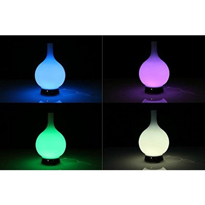 Hand Blown Glass Essential Oil Aroma Diffuser, 12 Brilliant Colors, Aromatherapy