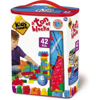 Generic Amloid Kids at Work 42-Piece Tote of Blocks
