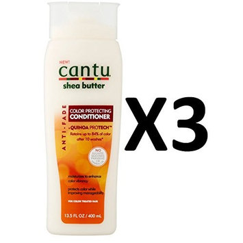 PACK OF 3] CANTU SHEA BUTTER COLOR PROTECTING CONDITIONER ANTI-FADE 13.5oz : Beauty