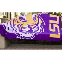 With a Purpose  LSU Tigers Blanket for a Blanket, 50