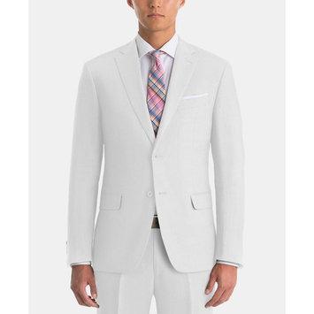 Men's UltraFlex Classic-Fit White Linen Suit Separates