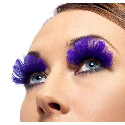Smiffy's Feathered Purple Eyelashes