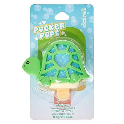 Claire's Pucker Pops Holographic Turtle Lip Gloss