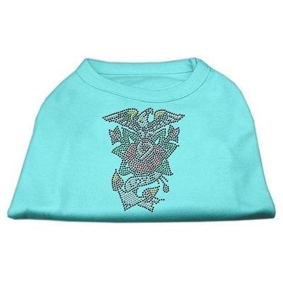 Mirage Pet Products 5227 LGAQ Eagle Rose Nailhead Shirts Aqua L 14