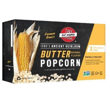Tiny But Mighty Popcorn Microwave Popcorn - Butter - 2.5 oz - 3 ct