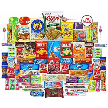 The Snack Bar Care Package (70 count) Variety Snack Care Package