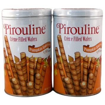 Pirouline Creme Filled Wafers - Fancy Pumpkin Spice Cookies - 2 Tins 14.1 Oz each