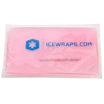 Blue 6x10 Gel Pack Reusable Microwavable Hot Pack, Ideal Ice Pack for Pain Relief First Aid by IceWraps