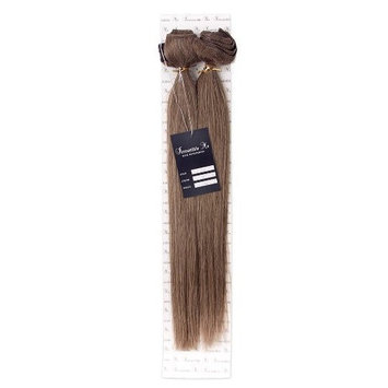 IRRESISTIBLE ME – Clip in Hair Extensions As Blonde (#10) - 100% Natural Remy (Remi) Human Real Hair – Straight Silky Touch – Clips Pieces Full Head Set - Different Weight (Grams) and Length (Inch)