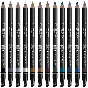 SHANY Slim Pencil Eyeliner Set, 12 pc