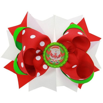 Hair Bows Hair Clips,WuyiMC Christmas Ornaments Hairpin Ribbon Pinwheel Boutique for Baby Girls Teens Children