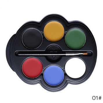 6 Colors Face and Body Paint Palette Set Halloween Party Stage Makeup With Brush