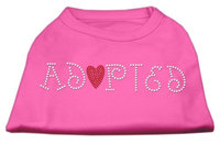 Mirage Pet Products 5202 XLBPK Adopted Rhinestone Shirt Bright Pink XL 16