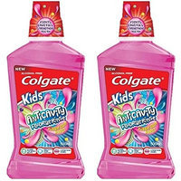 Colgate Kids Bubble Gum Burst Anticavity Fluoride Rinse, 8.4 Oz (Pack of 2)