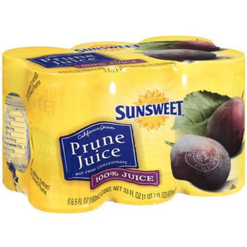Sunsweet Prune Juice, 6 / 5.5 oz cans