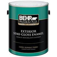 Interior Paint, Exterior Paint & Paint Samples: BEHR Premium Plus Paint 1-gal. Ultra Pure White Semi-Gloss Enamel Exterior Paint 505001