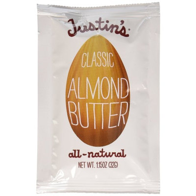 Justins Almond Butter Squeeze Packet, Classic, 1.15 Ounce (Pack of 20)