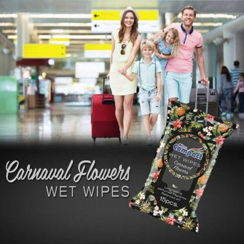Personal Wet Wipes, Premium Moist Towelettes Fragrance of Carnival Flowers, Great for Camping & Travel, Personal Hygiene Wipes, Pocket Size (36)