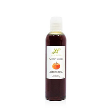 100% Organic Pumpkin Seed Oil by Velona   All Natural for Hair, Body and Skin Care   Unrefined, Cold Pressed   Size: 4 OZ