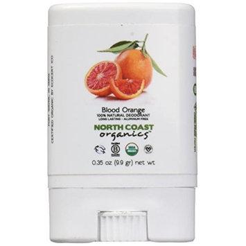 North Coast Organics 682489 Blood Orange Organic Travel Deod 0.35 oz - Case of 12