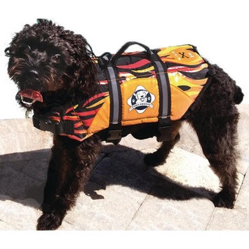 Paws Aboard F1200 Doggy Life Jacket XS Flames