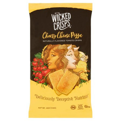 Klb Enterprises, Inc. Wicked Crisps, Crisps Chees Pizza Tomato, 4 Oz (Pack Of 12)