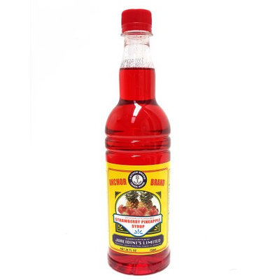 Iberia Anchor Brand Strawberry/Pineapple Syrup