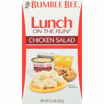 Bee Bumble Lunch on the Run! Chicken Salad with Crackers, Good Source of Protein, 8.1oz Kit