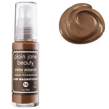 Plain Jane Beauty 232018 I Am Magnificent 14 Creme Minerals Liquid Foundation