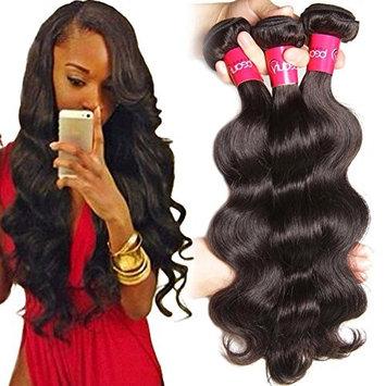Sunber Virgin Brazilian Hair Body Wave 4 Bundles, Long Lasting Brazilian Hair 100 Human Hair Body Wave, Natural Black Color Mixed Length