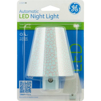 GE Round Shade Blue Chrysanthemum Automatic LED Nightlight