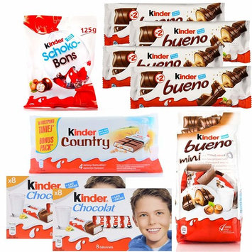 Kinder Assorted Chocolates Variety Pack, Bundle of 9 Items