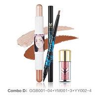 Eyeshadow Powder 🌸DEESEE(TM)🌸3 in 1 Glitter Shimmering Colors Concealer Repair Double Brow Cosmetic Eye shadow