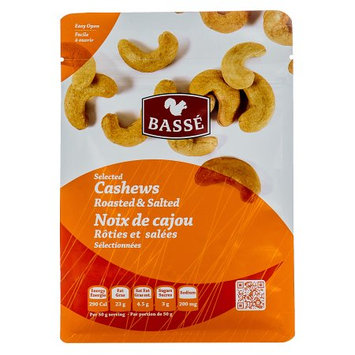 Basse Nuts Basse Selected Cashews, Roasted & Salted (7oz.) Salted Cashews Boasted Toasted Posted & Roasted Curvaceous Cashews