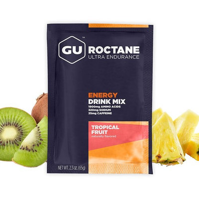 GU Energy Roctane Ultra Endurance Energy Drink Mix, Tropical Fruit, 2.3 Ounce Sample