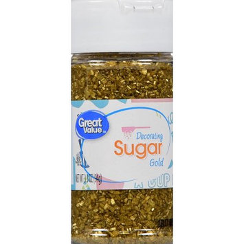 Wal-mart Stores, Inc. Great Value Gold Decorating Sugar, 3.3 oz