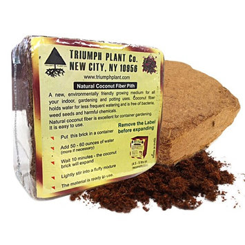 Triumph Plant Coco Coir Bricks - A Natural Additive to Potting Soil for Potted Plants & Gardens- Coconut Coir is a Sustainable Alternative to Peat Moss - Average Brick Size is 10 oz - 10 Bricks (Pack of 10)