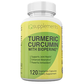 Turmeric Curcumin with Black Pepper BioPerine 120 Vegi Capsules